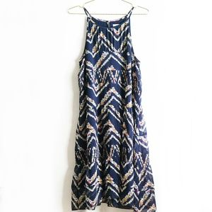 Anthropologie Printed Tiered Dress M